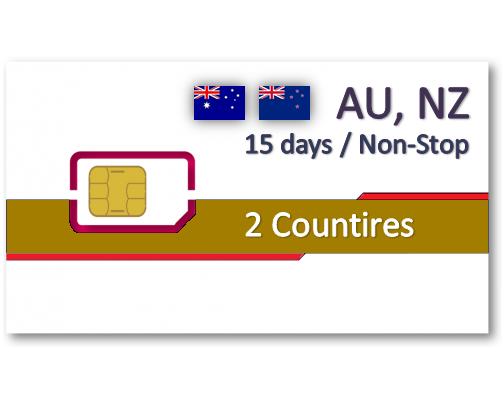 紐澳上網卡15天吃到飽 - 不可分享