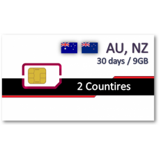 紐澳上網卡30天9GB