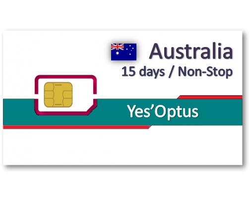 澳洲上網卡15天12GB/25天20GB