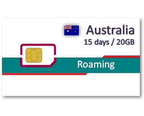 澳洲上網卡15天20GB