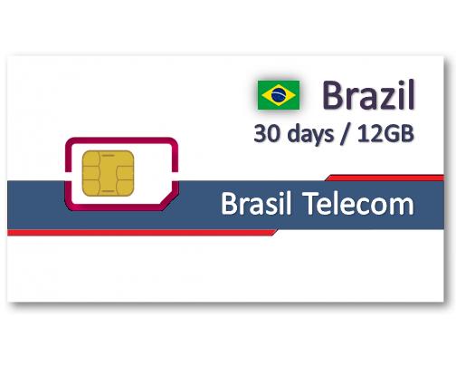 巴西上網卡30天12GB