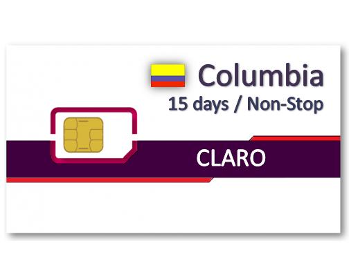 哥倫比亞上網卡15天吃到飽