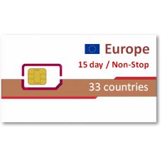 歐洲33國上網卡15天吃到飽