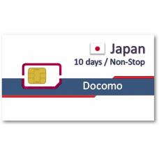 日本上網卡10天吃到飽 - 10GB後降速