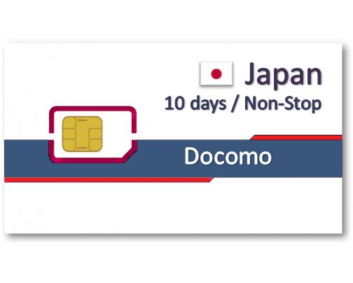 日本上網卡10天吃到飽-10GB降速