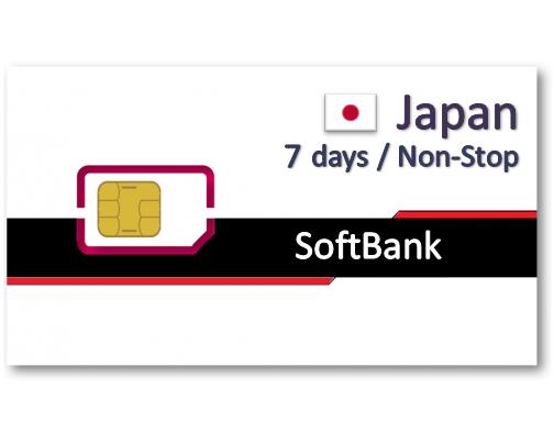 日本上網卡7天吃到飽 - 4GB後降速