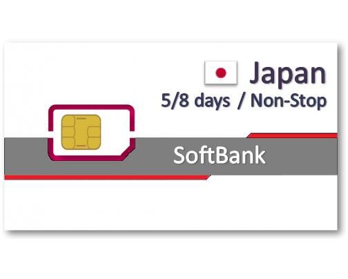 日本上網卡5天8天吃到飽 - 不降速