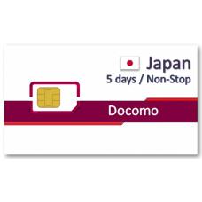 日本上網卡5天吃到飽 - Docomo