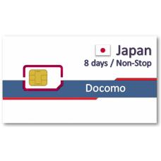 日本上網卡8天吃到飽 - Docomo