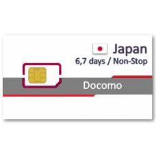 日本上網卡6天7天吃到飽 - 不降速