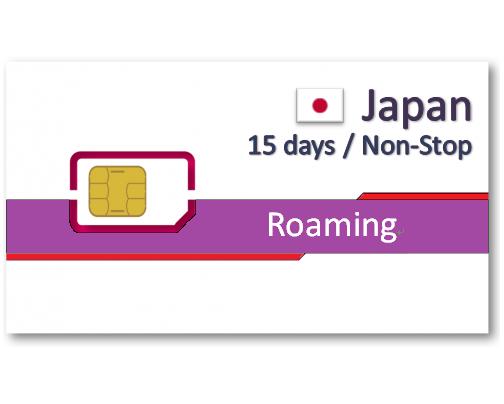 日本上網卡15天吃到飽-500MB/Day