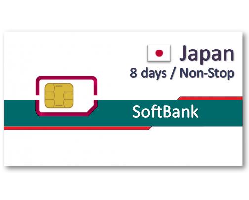 日本上網卡8/10天吃到飽-4GB後降速
