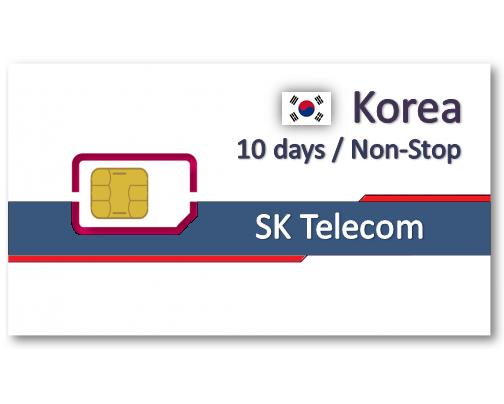 韓國上網卡10天吃到飽 - 6GB後降速