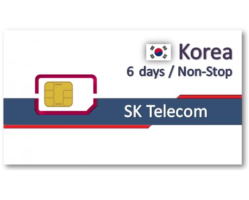 韓國上網卡6天吃到飽 - 5GB後降速