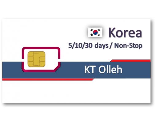 韓國上網卡10/30天吃到飽 - 不降速