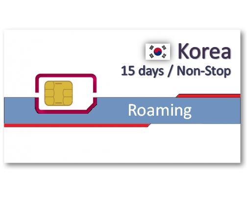 韓國上網卡15天吃到飽-500MB/DAY