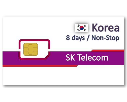 韓國上網卡8天吃到飽 - 5GB後降速