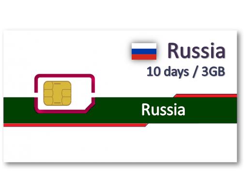俄羅斯上網卡10天3GB