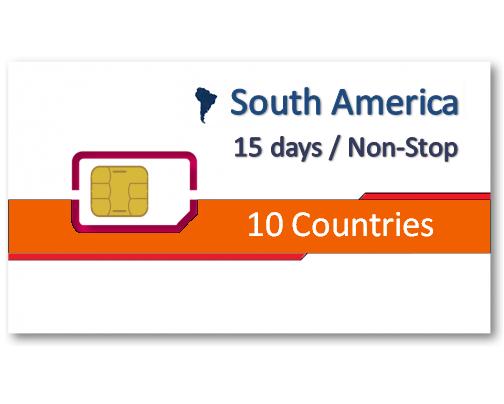 中南美洲10國上網卡15天吃到飽