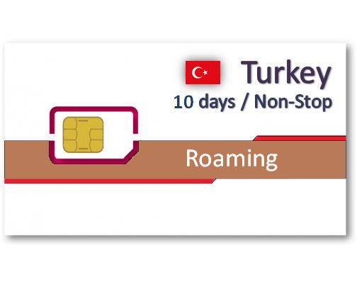 土耳其上網卡10天4GB/6GB/8GB