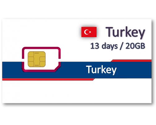 土耳其上網卡12天10GB/15GB/20GB
