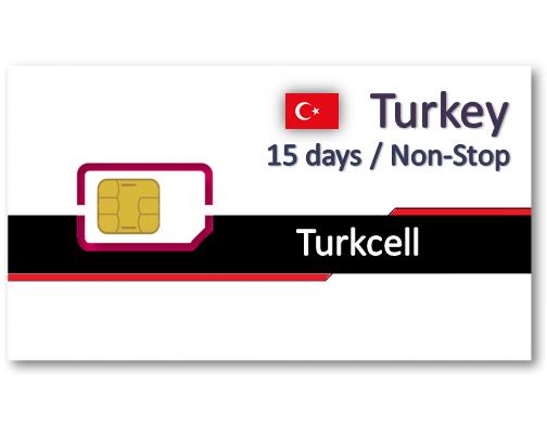 土耳其上網卡15天15GB/20GB/30GB