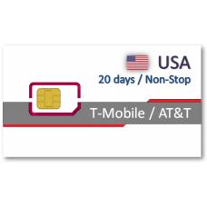 美國20天吃到飽上網卡+無限國際通話