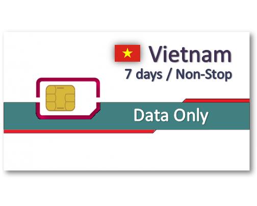 越南上網卡7天吃到飽 - 10GB降速