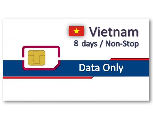 越南上網卡8天吃到飽
