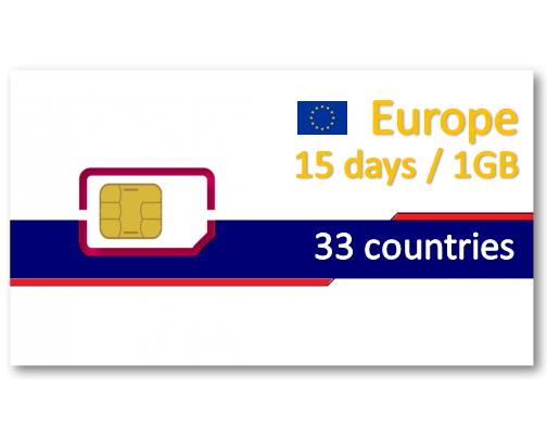 歐洲38國上網卡15天1GB-小資可分享